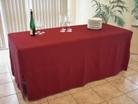 Bankett-Tischhusse Weinrot, für Tischgröße 183 x 76cm, Exklusiv-Serie  - Bild vergrößern