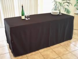 Tischhusse schwarz für Tischgröße 60 x 100cm, Exklusiv -Serie  - Bild vergrößern