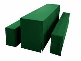 25cm Bankhusse einzeln Exklusiv - Dunkelgrün - Bild vergrößern