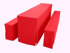 Tischhusse rot für Tischgröße 60 x 200cm, Exklusiv -Serie  - Bild vergrößern